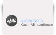 Afili web lapas izstrāde