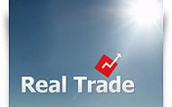 RealTrade Forex brokeru mājas lapas dizains